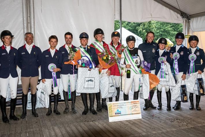 Le podium du CCIO 4*-S de Waregem (Crédit photo: FEI/Lippens Photography)