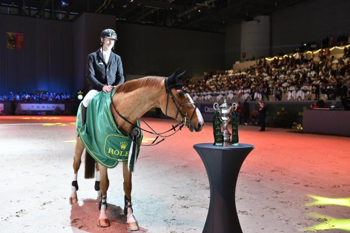 Marcus Ehning et Prêt A Tout (Photo : Rolex Grand Slam)