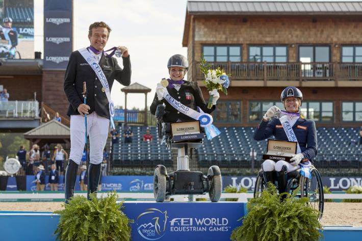 Le podium grade II (Photo : Liz Gregg/FEI)