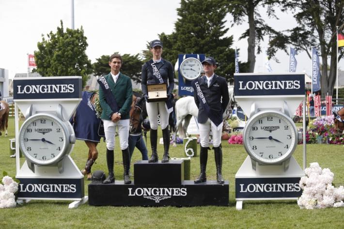 Le podium de l'épreuve (Photo : T. Van Halle / CSIO5* La Baule 2019)