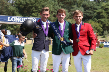 Le podium individuel juniors (Photo : PSV photos)