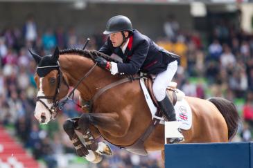 Utamaro et Joe Clee lors des Jeux équestres mondiaux de Caen (Photo : Christophe Bortels)