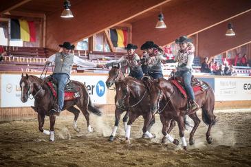 L'équipe belge (Photo : FEI European Reining Championships)