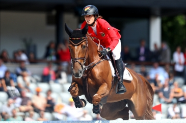 Simone Blum (Photo :  Mouhtaropoulos/Getty Images for FEI)