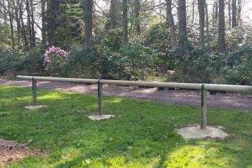 Le parking pour chevaux du Domaine du Roi / Stanford-Gardens