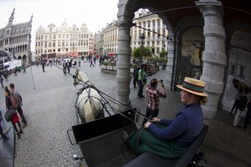 Les calèches de Bruxelles (Crédit photo : Christophe Bortels)