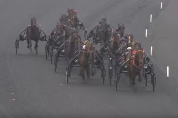 La 98e édition du Grand Prix d'Amérique à Vincennes, hippodrome de Paris (Crédit photo : capture d'écran LeTrot TV)