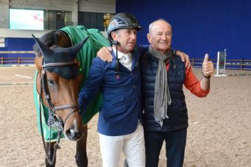 Philippe Rozier et son père, Thierry (Crédit photo : Valentine Van den Eynde)