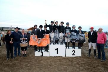 Le podium de l'inter-équipe poneys GHC (Crédit photo : Photo Evénement)