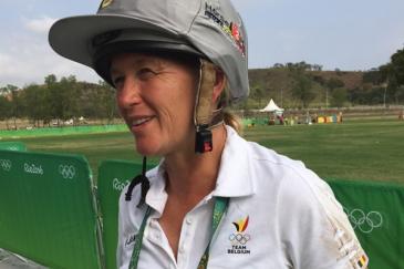 Karin Donckers après son cross aux Jeux olympiques de Rio (Crédit photo: Elodie Muller/L'Equimag)