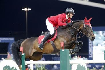 Nicola Philippaerts et Katanga, ici lors du GCT de Doha (Photo : Stefano Grasso / LCGT)