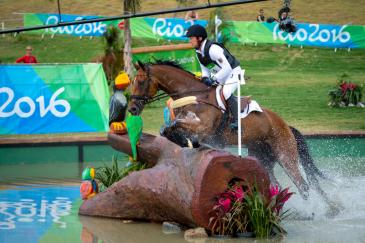 Michael Jung et Sam sur le cross des Jeux olympiques de Rio (Crédit photo:FEI/Arnd Bronkhorst)