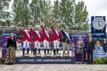 En saut d'obstacles, la Belgique alignera à Tryon l'équipe victorieuse à Rotterdam voici quelques semaines (Crédit photo : FEI/Arnd Bronkhorst)