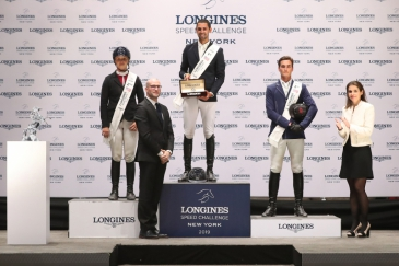 Le podium du Longines Speed Challenge (Photo : Longines Masters)