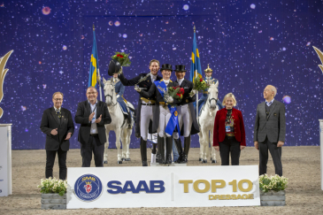 Le podium du Top 10 Saab à Stockholm - Crédit photo: DR/Roland Thunholm