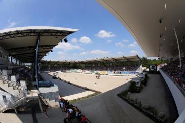Les épreuves se feront dans le stade en sable qui accueille habituellement le dressage (CHIO Aachen/Michael Strauch)