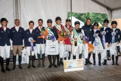Le podium du CCIO 4*-S de Waregem (Crédit photo: FEI/Lippens Photography)