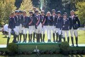 Le podium juniors (Crédit photo: Massimo Argenziano/FEI)